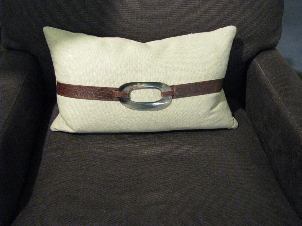 Belted pillow