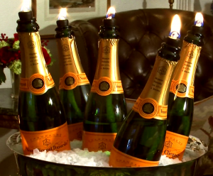Making Spirits Bright Champagne Candle Centerpiece Jeff West Lewes Rehoboth Beach Interior Designer